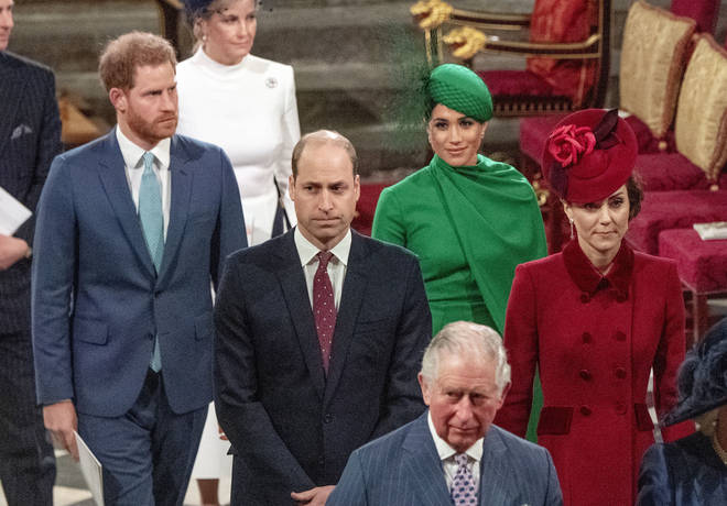 The couple walked behind the Duke and Duchess of Cambridge