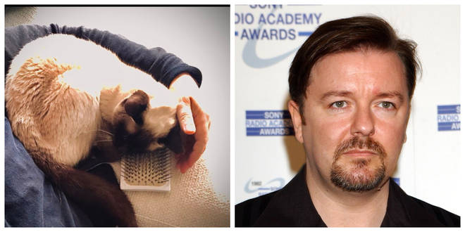 Ollie and Ricky Gervais