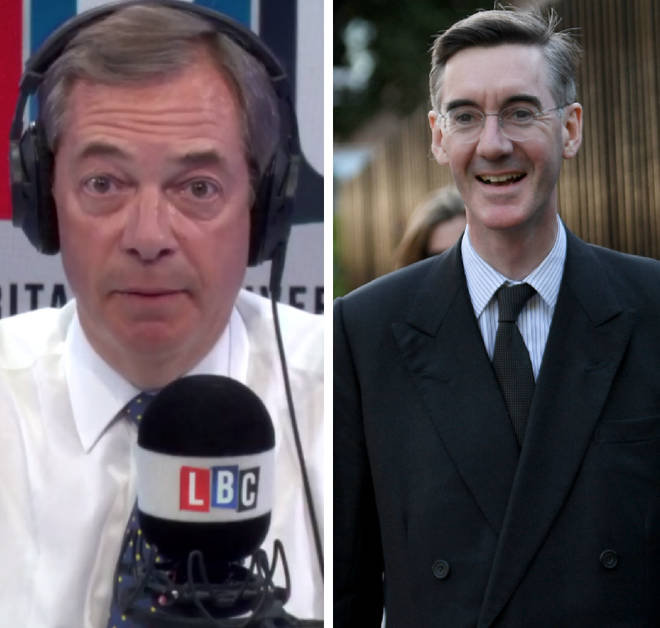 Jacob Rees-Mogg spoke to Nigel Farage on Wednesday
