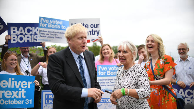 Ms Dorries pictured with Boris Johnson. The pair attended an event together this week