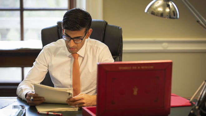 New Chancellor Rishi Sunak works on his budget
