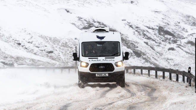 Forecasters have predicted up to 2cm of snow in some parts of the country