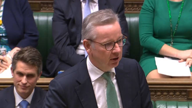 Michael Gove was speaking to MPs