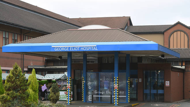 A patient died at the George Eliot Hospital NHS Trust in Warwickshire