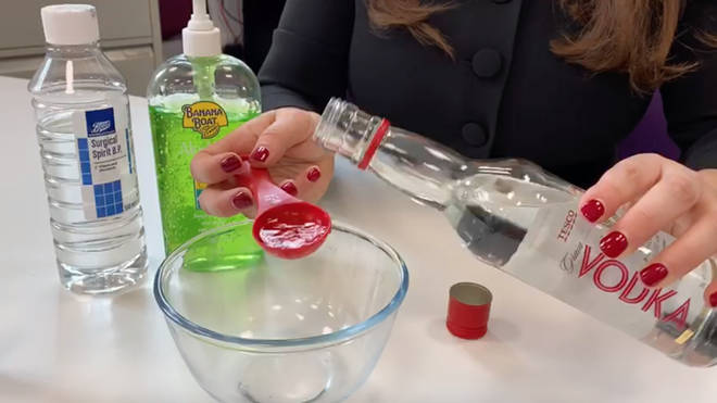An expert explains why hand gel made from vodka will not work