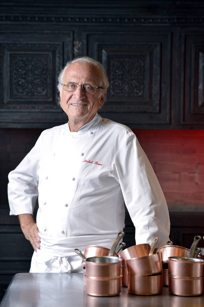 Picture of chef Michel Roux at Four Seasons Hotel, Central. 15OCT12