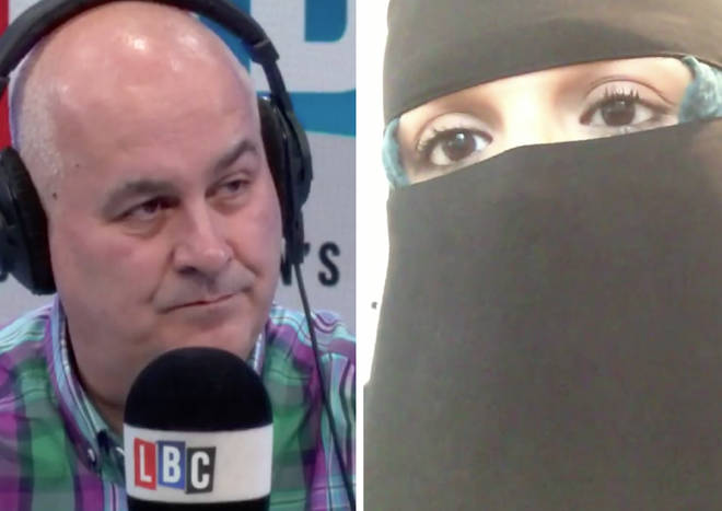 Iain Dale discussing the burka