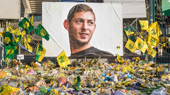 Tributes left to the late footballer at Nantes, his former club