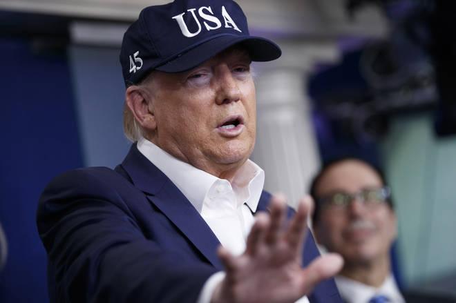 Donald Trump has tested negative for coronavirus