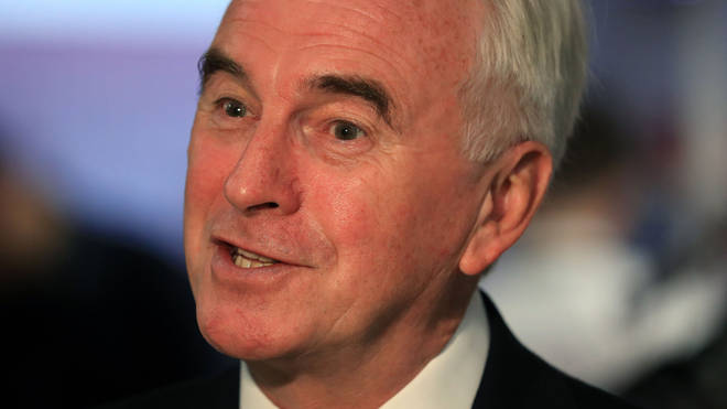 John McDonnell made the controversial comments to LBC's Theo Usherwood