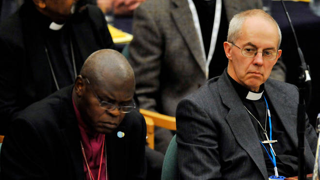 Archbishop of Canterbury the Most Rev Justin Welby (right) with the Archbishop of York Dr John Sentamu