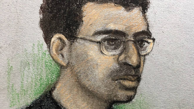 Hashem Abedi, younger brother of the Manchester Arena bomber, in the dock at the Old Bailey