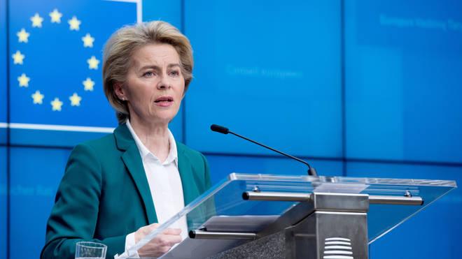 Ursula Von Der Leyen has announced the EU has closed its borders