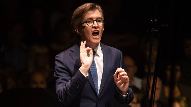 Gareth Malone conducts the Bournemouth Symphony Orchestra at Classic FM Live at London's Royal Albert Hall