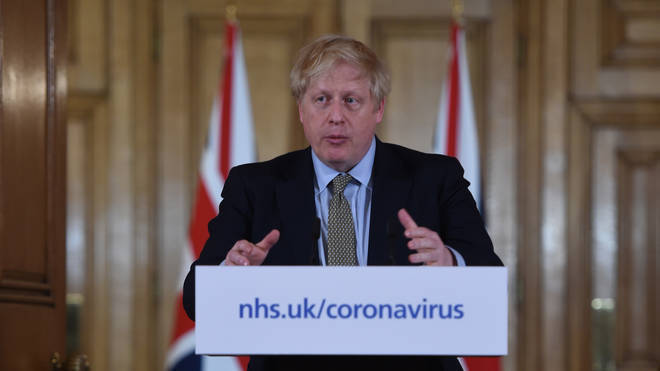 Prime Minister Boris Johnson spoke at a daily press conference on Thursday