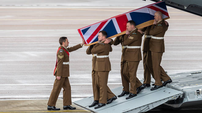 Her body was repatriated at RAF Brize Norton on Thursday