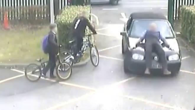 Man mows down teacher on school run