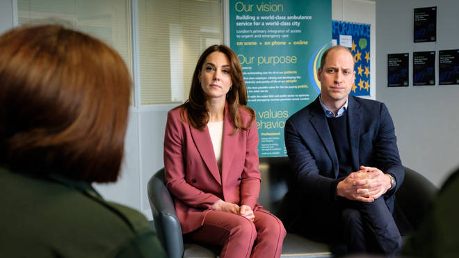 Kate and William visited the 111 call centre on Thursday
