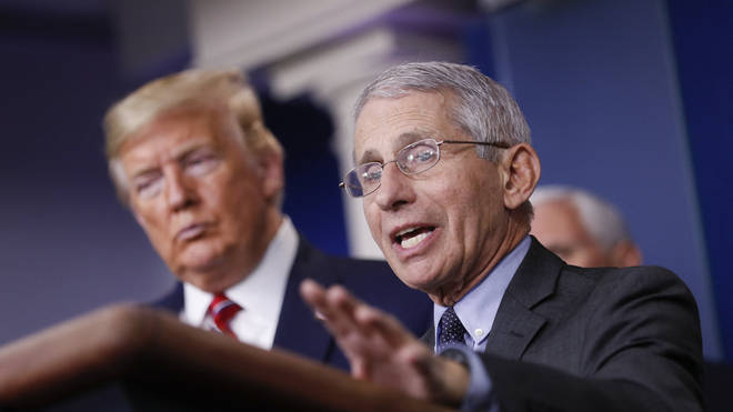 Dr Antony Fauci has repeatedly fact-checked Donald Trump's claims