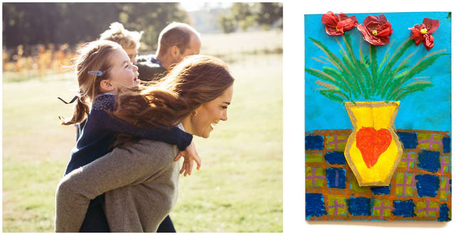 Kate and William have released new pictures of them with their children for Mother's Day