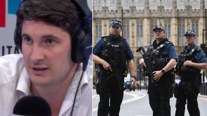 Tom Swarbrick praised the bravery of the police