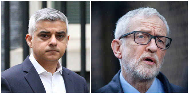 Jeremy Corbyn and Sadiq Khan have both said they welcome the UK lockdwon
