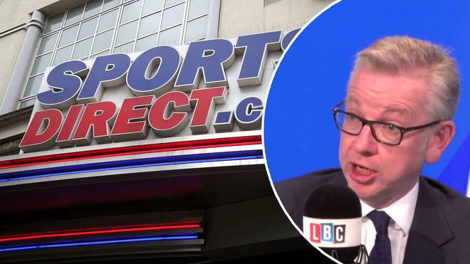 Michael Gove said Sports Direct will now not open