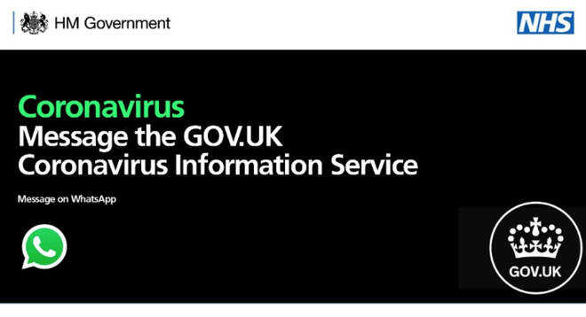 The Government has launched a Coronavirus Information Service on WhatsApp