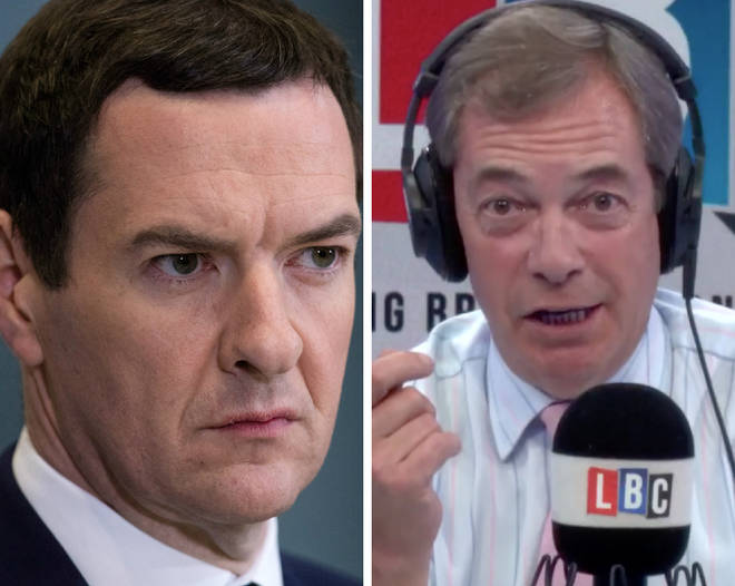 Nigel Farage reminded George Osborne of the dire warnings he made pre-Brexit