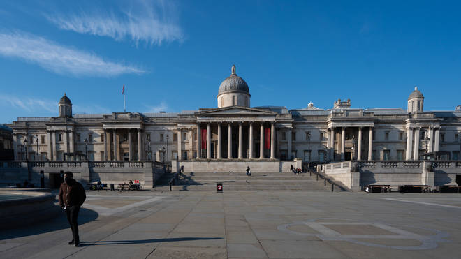 Tourist hotspot Trafalgar Square was also eerily quiet