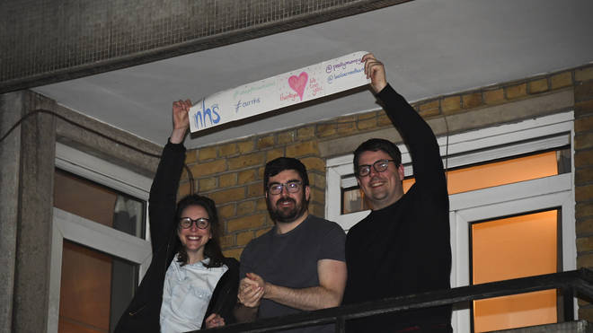 People showed their appreciation for the NHS on Thursday evening