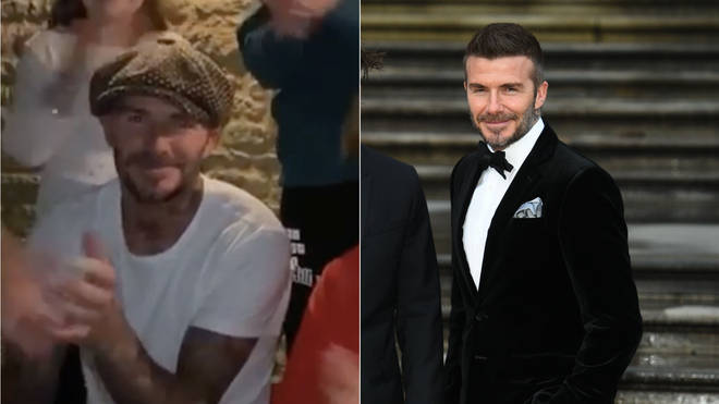 David Beckham applauded NHS workers in a video alongside his family