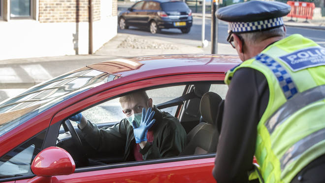 Police across parts of the country have been stopping motorists to ensure their journey is considered essential