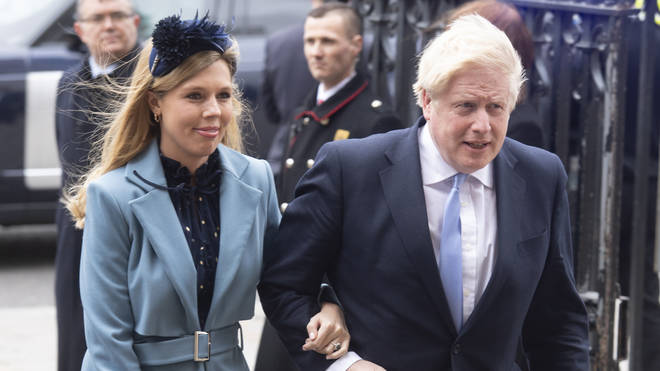 Boris Johnson was seen with Carrie Symonds on 9 March