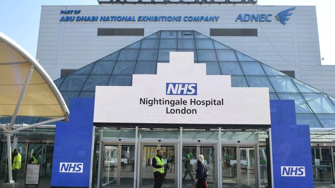 The NHS Nightingale has been set up in the ExCel Centre in London