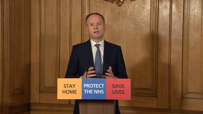 NHS CEO Simon Stevens made his first appearance at the daily press conferences