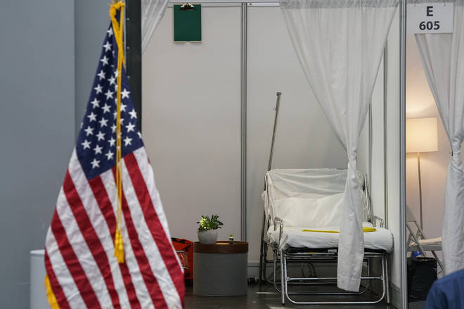 Makeshift coronavirus hospitals have been set up in New York City