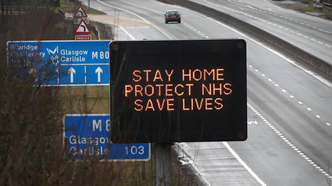 People are urged to stay at home to stem the spread of the virus