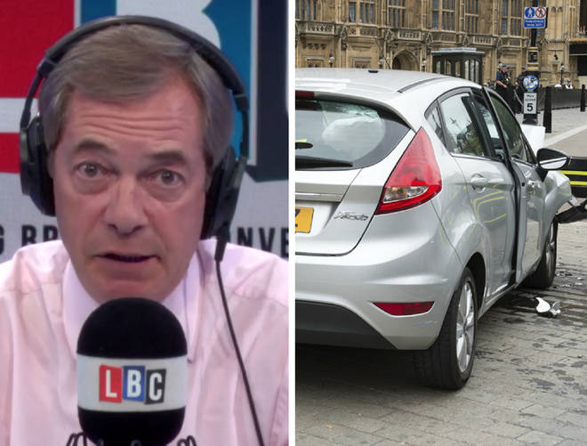 Don't pedestrianise roads outside parliament, warns Nigel Farage
