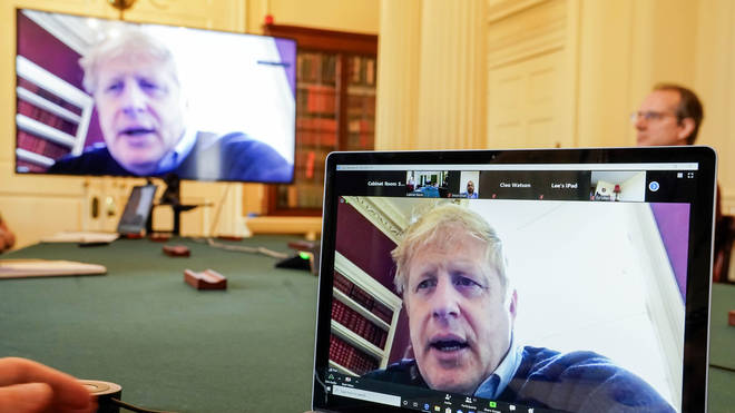 Boris Johnson is working in isolation after testing positive for Covid-19