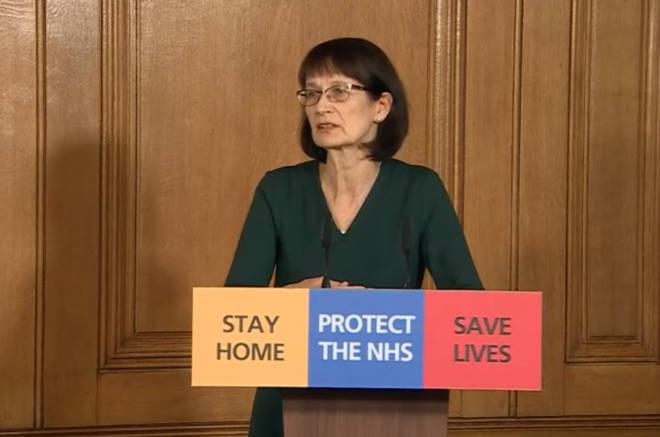 Dr Jenny Harries was speaking alongside Housing Secretary Robert Jenrick