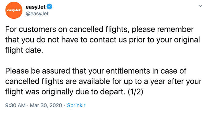 EasyJet customers have been asked to only call if it's urgent