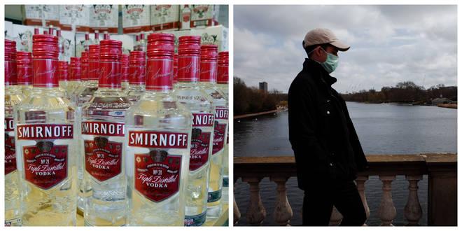 One third of Brits think washing your hands in vodka will kill coronavirus