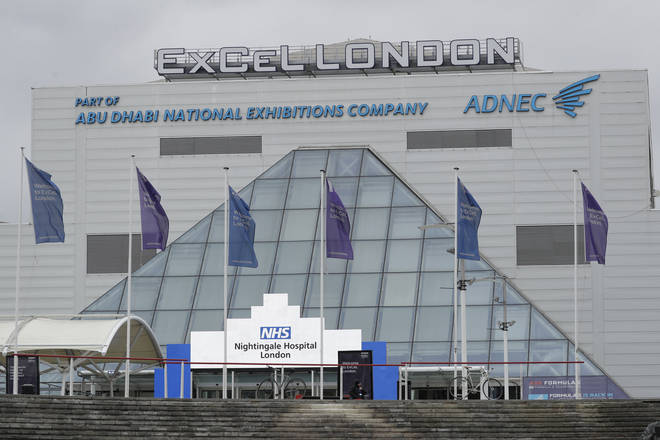 The outside of the ExCel centre