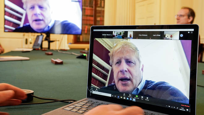 Boris Johnson will host a video conference cabinet meeting