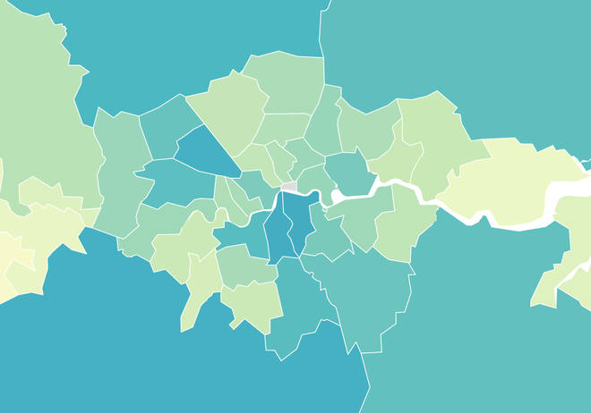 The coronavirus hotspots in London