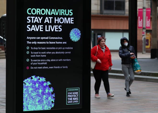 Brits are being urged to stay at home to stem the spread of coronavirus