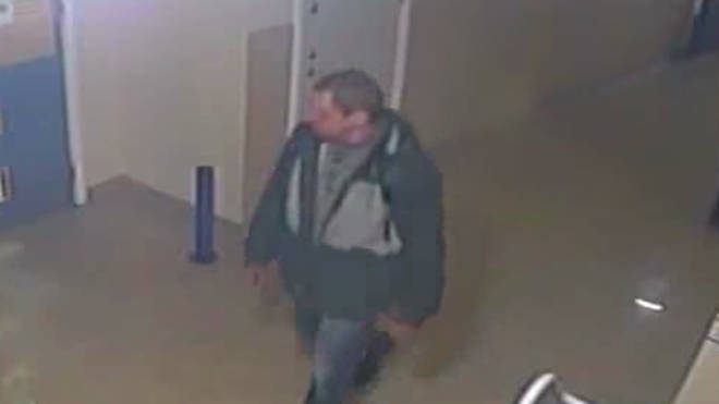 Police want to speak to the man in connection with the alleged theft