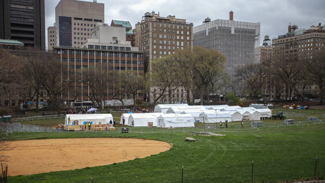 Samaritan's Purse Hospital is setting up a 68-bed field hospital and a special respiratory treatment unit in Central Park