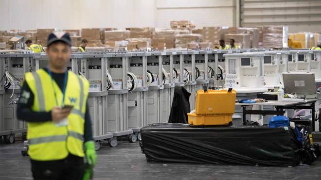 Thousands of ventilators are being moved into the hospital